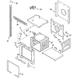 RBD245PDB14 Built In Oven - Electric Upper oven Parts diagram