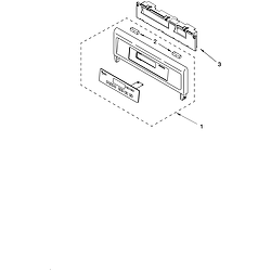 RBD275PDB14 Built In Oven - Electric Control panel Parts diagram