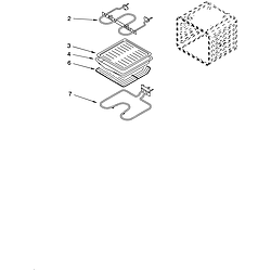 RBD275PDB14 Built In Oven - Electric Internal oven Parts diagram