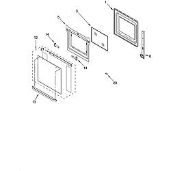 RBD275PDB14 Built In Oven - Electric Lower oven door Parts diagram