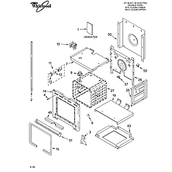 RBD275PDB14 Built In Oven - Electric Lower oven Parts diagram