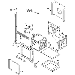 RBD275PDB14 Built In Oven - Electric Upper oven Parts diagram