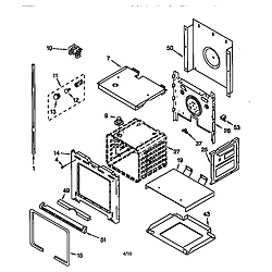RBD305PDB6 Electric Oven Lower oven Parts diagram