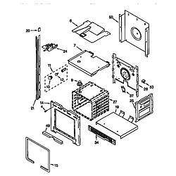 RBD305PDB6 Electric Oven Upper oven Parts diagram