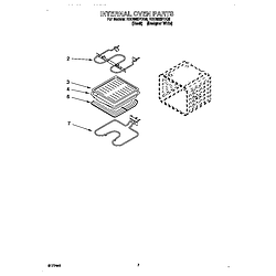 RBD305PDQ8 Electric Oven Internal oven Parts diagram