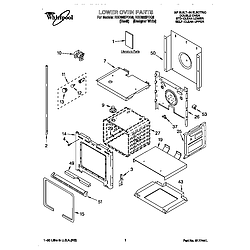 RBD305PDQ8 Electric Oven Lower oven Parts diagram