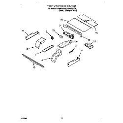 RBD305PDQ8 Electric Oven Top venting Parts diagram