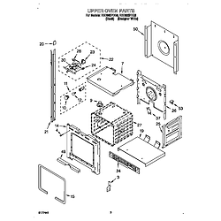 RBD305PDQ8 Electric Oven Upper oven Parts diagram