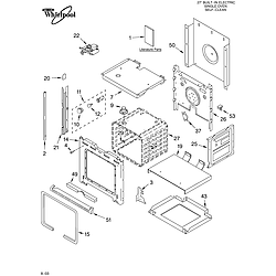 RBS275PDQ16 Built In Oven - Electric Oven Parts diagram