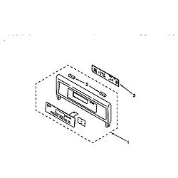 RBS275PDQ6 Oven Control panel Parts diagram