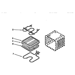 RBS275PDQ6 Oven Internal oven Parts diagram