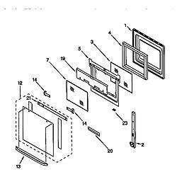 RBS275PDQ6 Oven Oven door Parts diagram