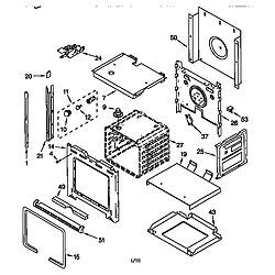 RBS275PDQ6 Oven Oven Parts diagram