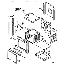 RBS305PDB6 Electric Wall Oven Oven Parts diagram