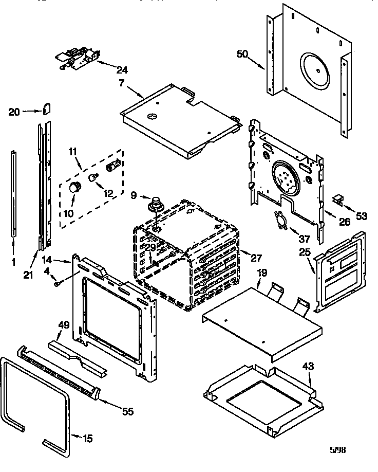 Oven Parts on kenmore elite dishwasher 665 diagram