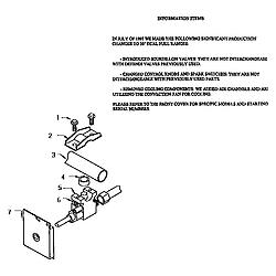 RDDS30 Range Gas control valve detail Parts diagram