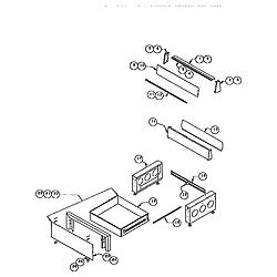 RDDS30 Range Storage drawer and base Parts diagram