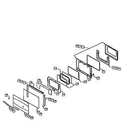 RDDS30VRS Range Main oven door assemby Parts diagram