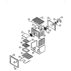 RDDS30VRS Range Main oven liner and module Parts diagram