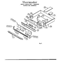 RDF30QB Freestanding Dual Fuel Range Burner box assembly Parts diagram