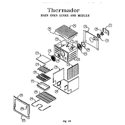 RDF30QB Freestanding Dual Fuel Range Main oven liner and module Parts diagram