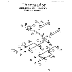RDF30QB Freestanding Dual Fuel Range Non-sequence manifold assembly Parts diagram