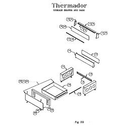 RDF30QB Freestanding Dual Fuel Range Storage drawer and base Parts diagram