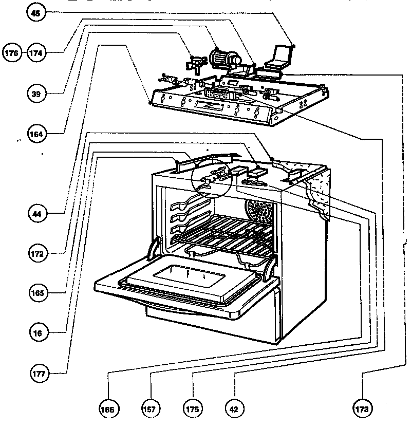 Rdfs30q Range Cooling And Electrical Control Parts Diagram