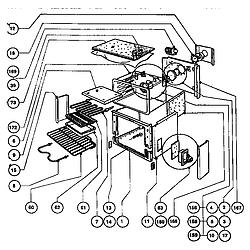 RDFS30Q Range Main oven assembly Parts diagram