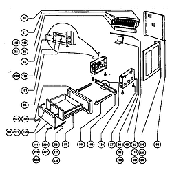 RDFS30QW Range Storage drawer and base Parts diagram
