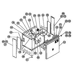 RDSS30 Range (slide-in) main body Parts diagram