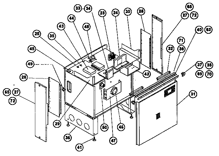 thermador stove top parts. rdss30 range (slide-in) main body parts diagram thermador stove top h