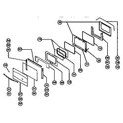 RDSS30 Range Main oven door assembly Parts diagram