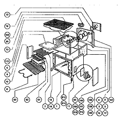 RDSS30 Range Main oven liner and module Parts diagram