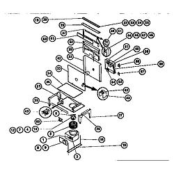 RDSS30RS Range Downdraft and vtn30rq blower Parts diagram