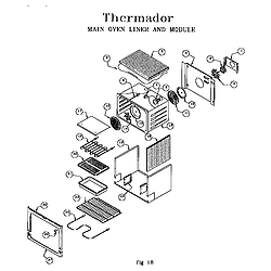 RED30V Drop-In Electric Range Main oven liner and module Parts diagram