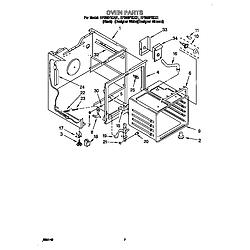 "RF386PXDZ1 30"" Electric Range WHIRLPOOL 30 diagram"