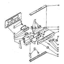 RF390PXP Electric Range Control panel Parts diagram