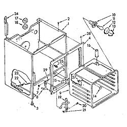 RF390PXP Electric Range Oven Parts diagram