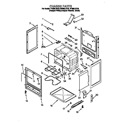 RF396LXEQ0 Free Standing Electric Range Chassis Parts diagram