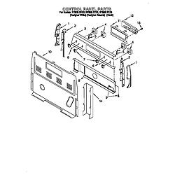 RF396LXEQ0 Free Standing Electric Range Control panel Parts diagram