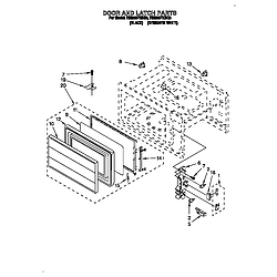 RM280PXBQ3 Electric Range And Oven Door and latch Parts diagram