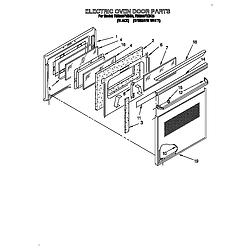 RM280PXBQ3 Electric Range And Oven Electric oven door Parts diagram