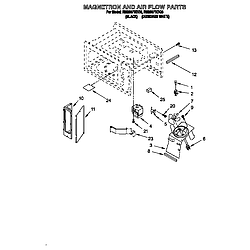 RM280PXBQ3 Electric Range And Oven Magnetron and air flow Parts diagram