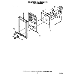 RM288PXV Electric Built-In Oven With Microwave Control panel Parts diagram
