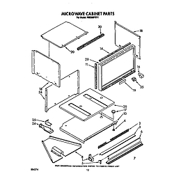 RM288PXV Electric Built-In Oven With Microwave Microwave cabinet Parts diagram