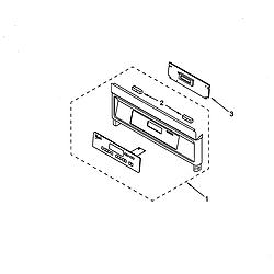 RS675PXGQ0 Electric Range Control panel Parts diagram