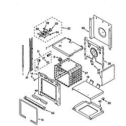 RS675PXGQ0 Electric Range Oven Parts diagram