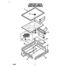 RS696PXYB Electric Range Cooktop Parts diagram