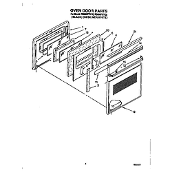 RS696PXYB Electric Range Oven door Parts diagram